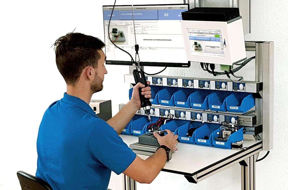 Mit dem Werkerassistenzsystem ELAM Produktionsabläufe wirtschaftlich gestalten