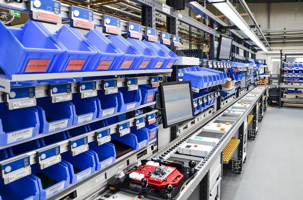 Werkerassistenzsystem als Montage im Umlaufsystem