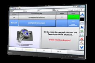 Touch Panel mit Arbeitsanweisung